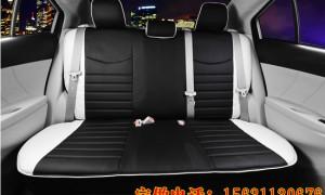 汽车坐垫座套--白黑色