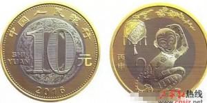 猴年纪念币2016年1月16日发行