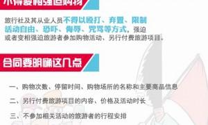 """强迫游客购物或被吊销许可证 河北7家旅行社签""""军令状"""""""